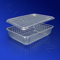 Kazakhstan Контейнер пластиковый 500мл PP прозрачный с крышкой 18х13х3,5см