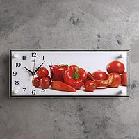 """Часы настенные, серия: Кухня, """"Дары урожая"""", 20х50 см"""