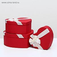 """Набор коробок 3 в 1 """"Сердце"""", красный, 31 х 29 х 13 - 23 х 20 х 10 см"""