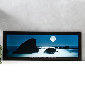 """Постер МДФ """"Калифорния. Полная луна над Лагуна-Бич"""" 33х95 см, венге"""