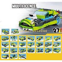 31011 Констр. зеленая спортивная машина (можно собрать 27 моделей) Rocket Rally Car 241 дет  31*26см, фото 1