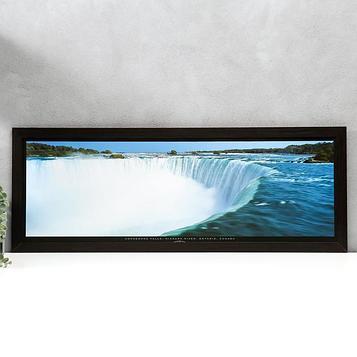 "Постер МДФ ""Ниагарский водопад"" 33х95 см, венге"