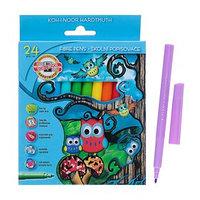 Фломастеры 24 цвета Koh-I-Noor 1012/24, картонная упаковка, европодвес