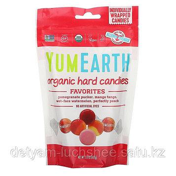 Органические леденцы, любимые фрукты, 93,6 г