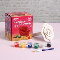 Роспись по гипсу 'Роза' краска 3 цв по 2,5 мл, кисть