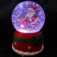 """Музыкальный снежный шар """"Дед Мороз и медвежонок"""", 16см."""