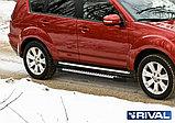 "Порог-площадка ""Bmw-Style"" + комплект крепежа, RIVAL, Mitsubishi Outlander XL (2007-2012), фото 2"