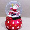 """Музыкальный снежный шар """"Дед Мороз и Пряня"""", 16см."""
