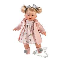Кукла Llorens Ариана блондинка в розовом пальто и розовом платье, фото 1