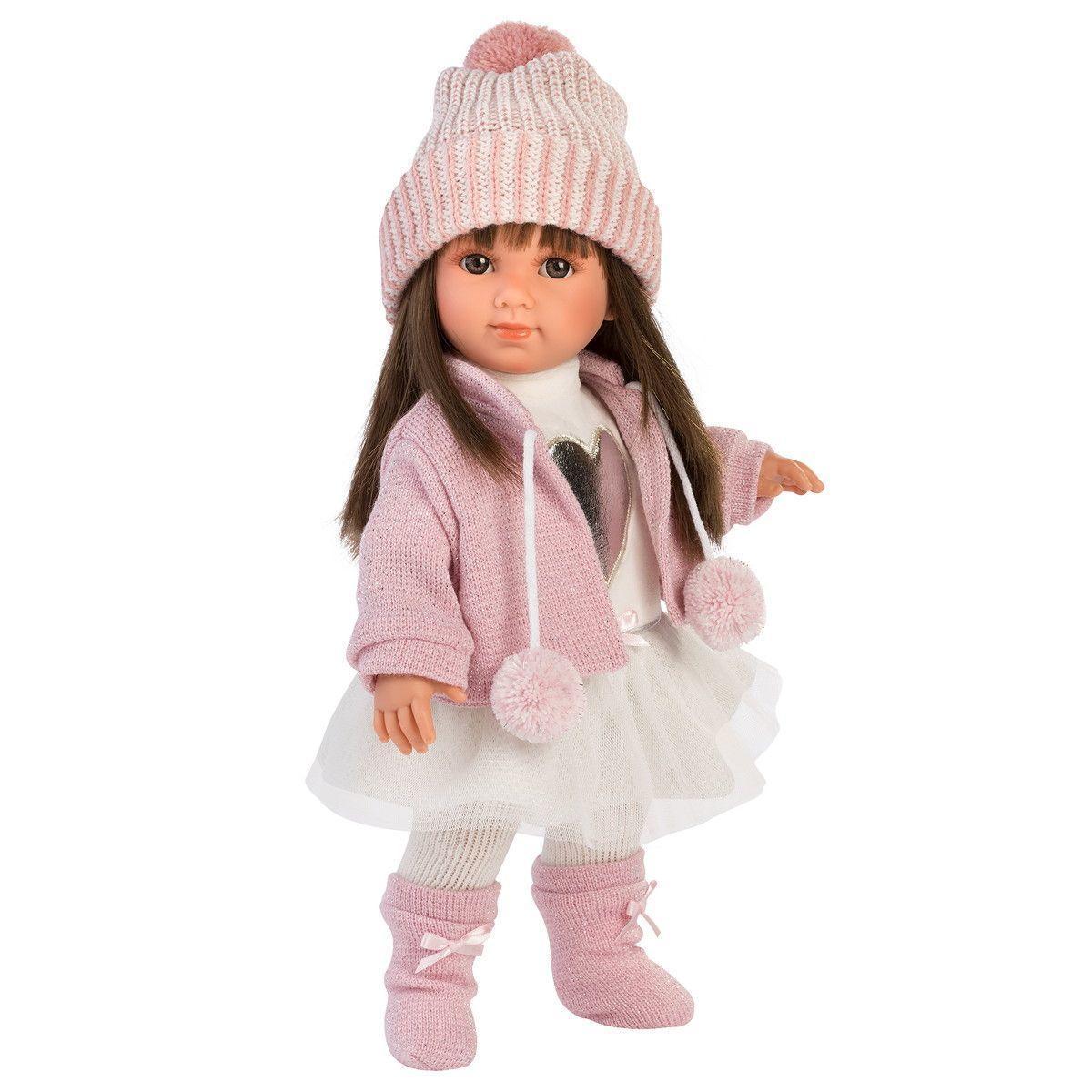 Кукла Llorens Сара шатенка в розовом жакете и белой кружевной юбке - фото 2