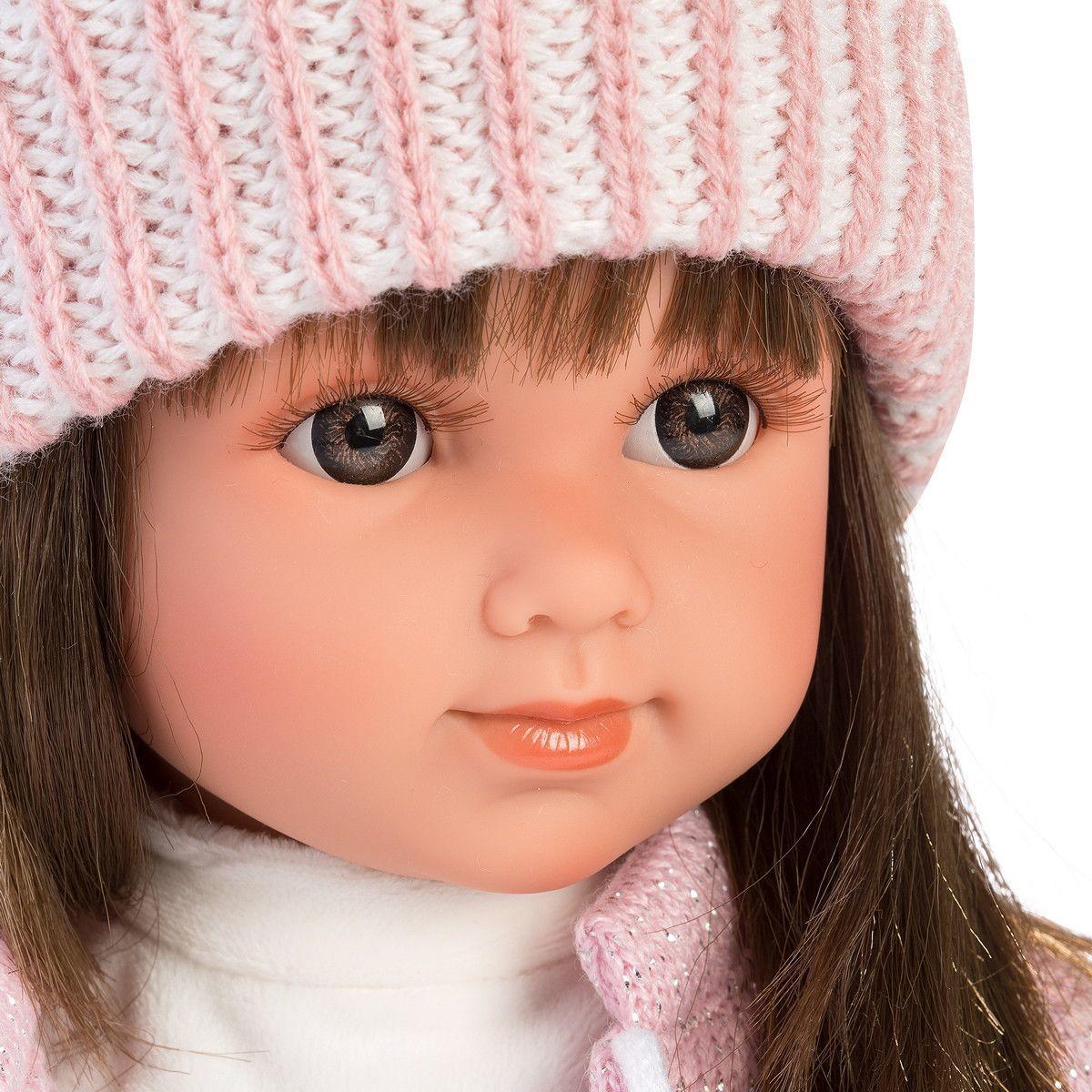 Кукла Llorens Сара шатенка в розовом жакете и белой кружевной юбке - фото 3