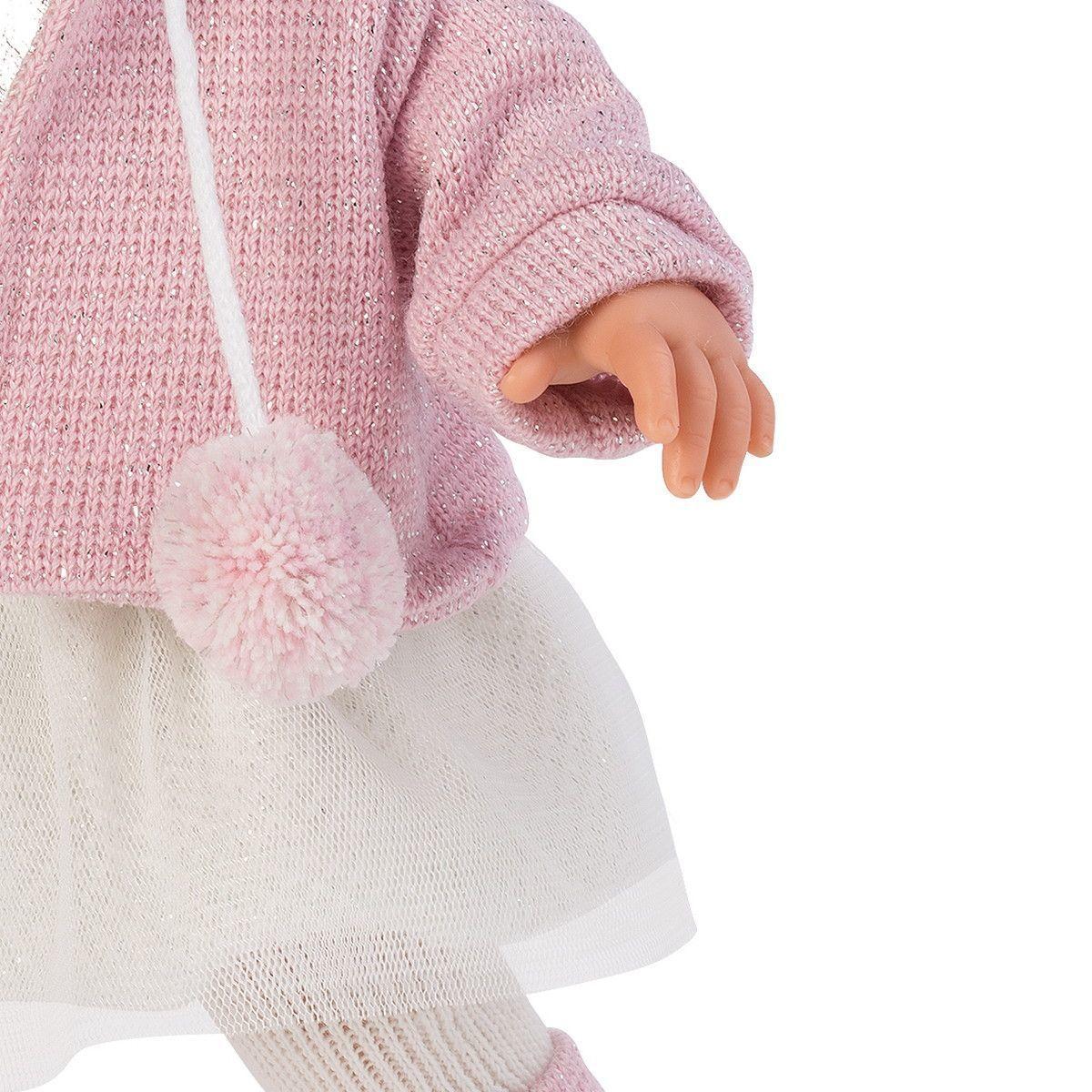 Кукла Llorens Сара шатенка в розовом жакете и белой кружевной юбке - фото 5