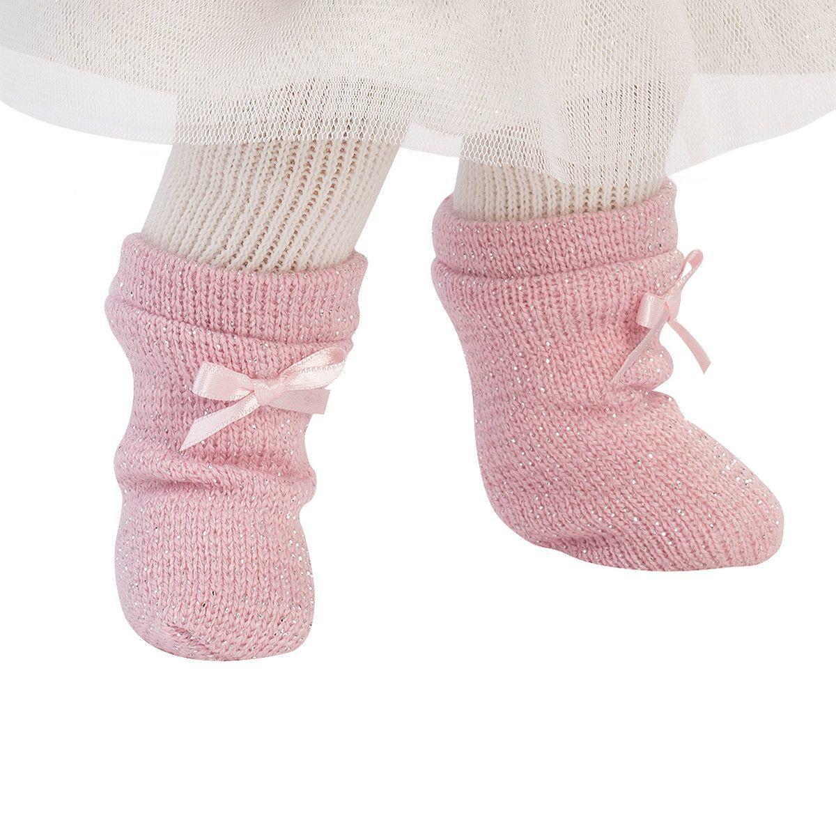 Кукла Llorens Сара шатенка в розовом жакете и белой кружевной юбке - фото 6