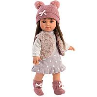 Кукла Llorens Сара брюнетка в меховом жилете