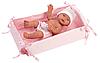 Пупс Малышка Llorens 26 см., с детской кроваткой