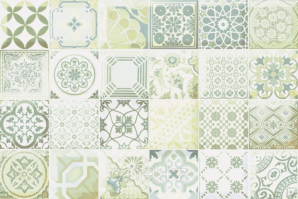 Кафель | Плитка настенная 20х30 Равенна | Ravenna зеленый декор Д