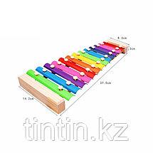 Детский деревянный ксилофон 13 тонов, фото 3