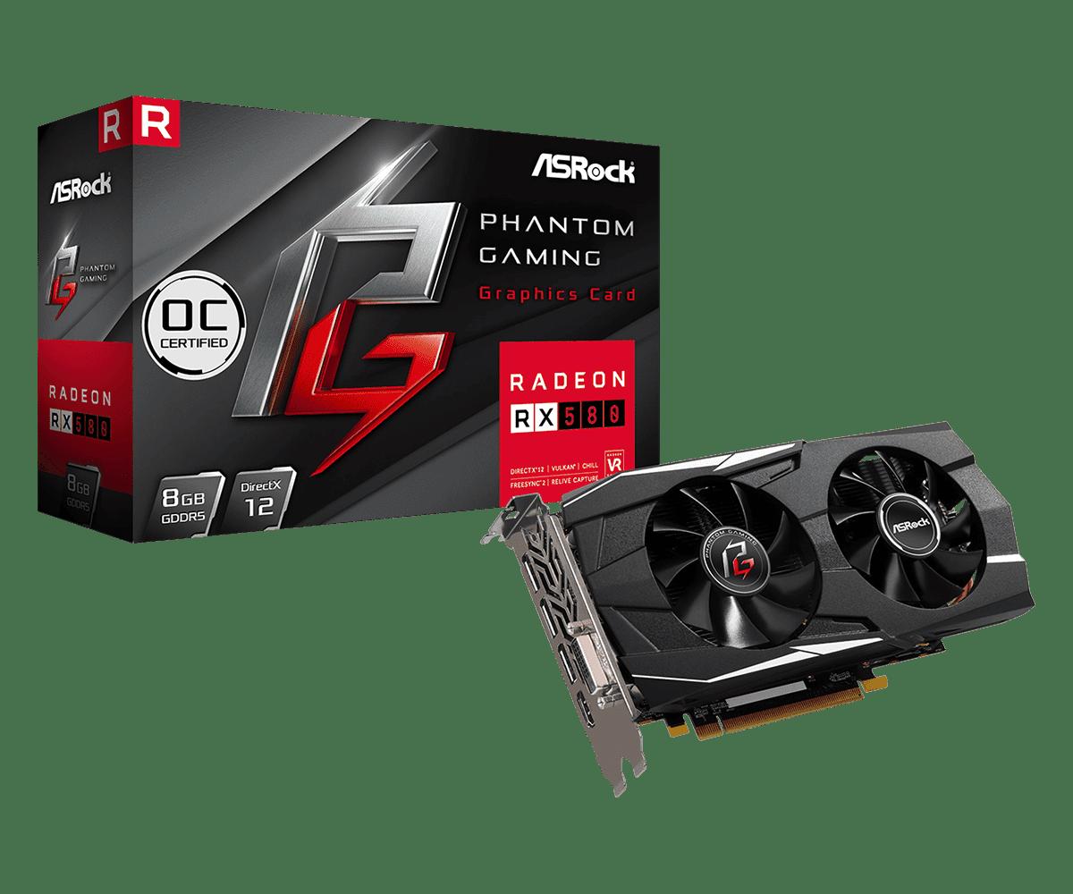 Видеокарта RX 580/8GB GDDR5 256-bit, AsRock