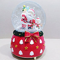 """Музыкальный снежный шар """"Дед Мороз и Снеговик"""", 16см."""
