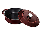 Чугунная кастрюля с крышкой Berlinger Haus Metallic Line Burgundy Edition 2.5 л, фото 2