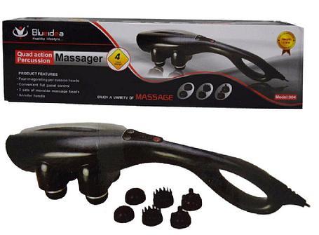 Универсальный массажер для всего тела с 4 насадками с прогревом, фото 2