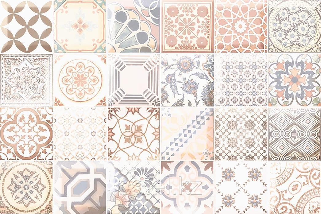Кафель | Плитка настенная 20х30 Равенна | Ravenna коричневый вставка декор D