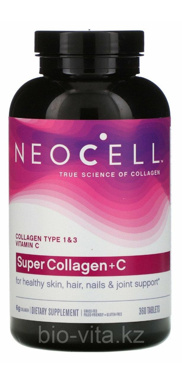 Коллаген 1 и 3 типа 1000 мг.+Витамин С 360 таблеток. Neocell (Волосы, ногти, кожа, суставы)