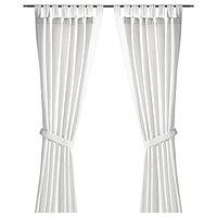 Шторы с прихватом ЛЕНДА белый 290x300 см ИКЕА IKEA