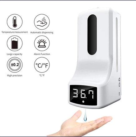Дозатор сенсорный 2 в 1 с термометром, фото 2