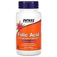 Фолиевая кислота от NOW 800 мкг, 250 таблеток