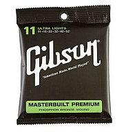 Струны для акустических гитар GIBSON SAG-MB-11 MASTERBUILT PHOSPHOR BR