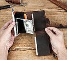 """Кожаный бокс для кредитных карт """"Contacts""""- кардхолдер. RFID Protected. Картхолдер, фото 7"""