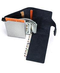 """Кожаный бокс для кредитных карт """"Contacts""""- кардхолдер. RFID Protected. Картхолдер"""