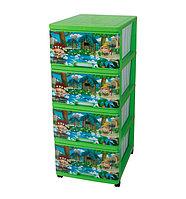 Детский комод для игрушек Dunya Джунгли зеленый