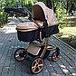Детская коляска-трансформер 2в1 Aimile Wingoffly (на золотой раме), Китай, фото 7
