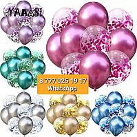Воздушные шары поштучно, упаковками и наборами для декора/поздравления/игры (не надуваем, не украшаем)