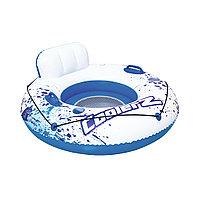 Круг для плавания CoolerZ Luxury Tube 119 см, BESTWAY, Бело-Синий