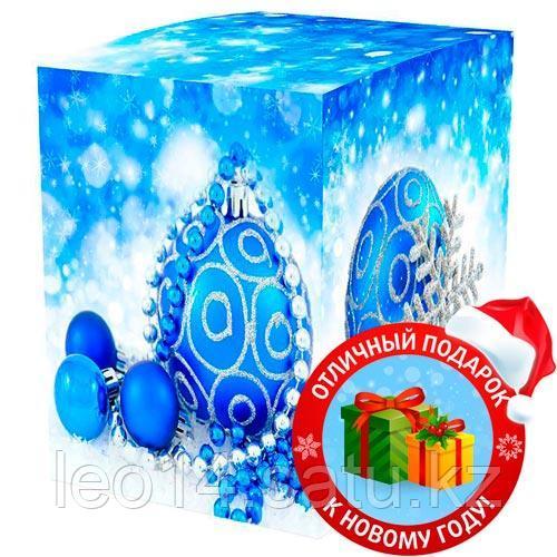 """Подарочная коробка для кружки """"Елочные шары"""" (100х100х105мм)"""