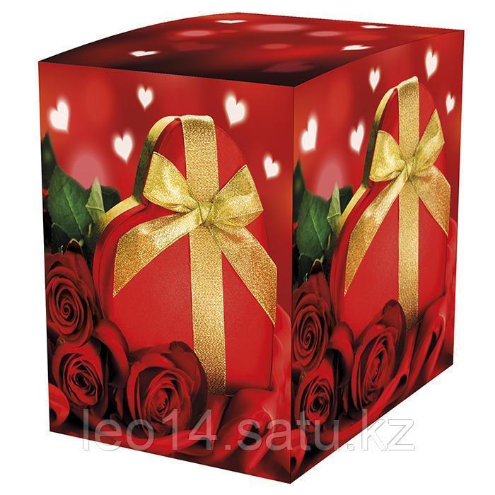 """Подарочная коробка для кружки """"Сюрприз"""" (100х100х105мм)"""