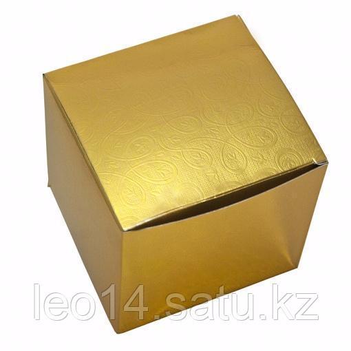 """Подарочная коробка для кружки """"Цвет золото"""" (100х100х105мм)"""