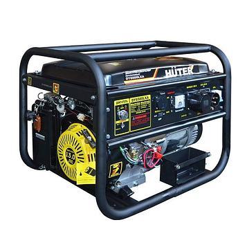 Генератор Huter DY6500LXA, бензиновый, 5/5.5 кВт, 22 л, 220 В, ручной/электростарт
