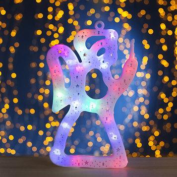 "Фигура ""Ангелок"" 30х20 см, пластик, 20 LED, 240V RG/RB"
