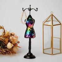 Подставка для украшений 'Силуэт девушки в платье', h31 см, цвет МИКС