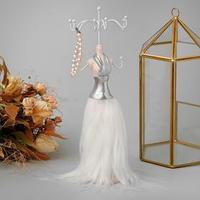 Подставка для украшений 'Силуэт девушки в платье', h27, цвет МИКС