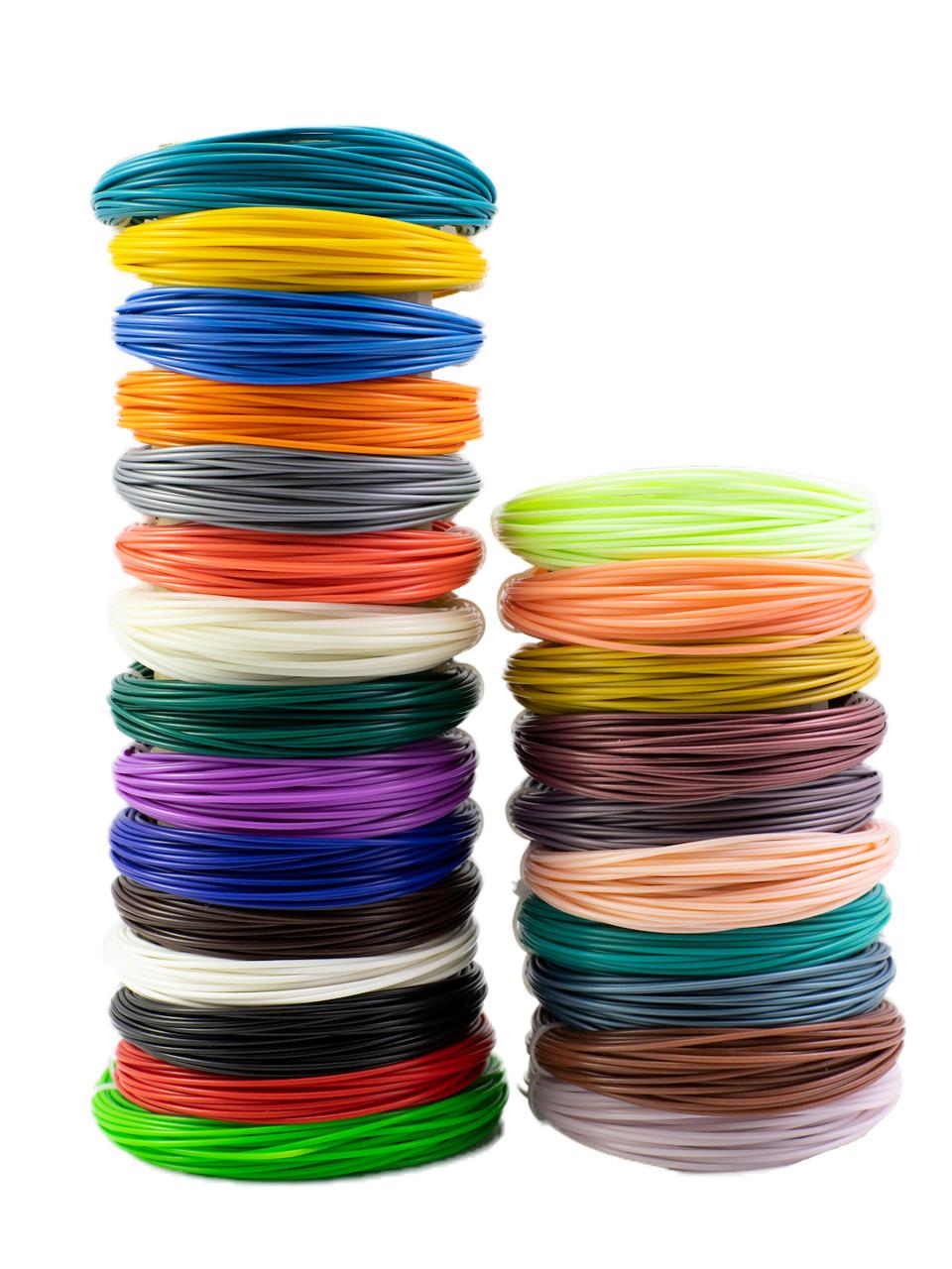 "Набор пластика для 3D ручки ""НИТ"", ABS 15 + 10 цветов (250 метров)"