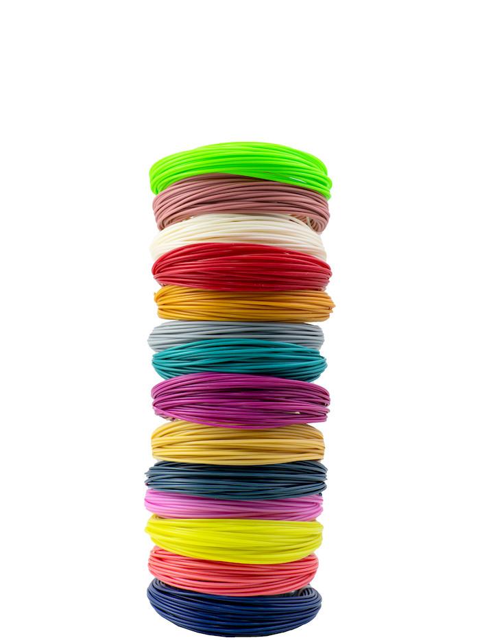 "Набор пластика для 3D ручки ""НИТ"", ABS - 14 цветов (140 метров)"