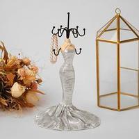 Подставка для украшений 'Силуэт девушки в платье', h26, цвет МИКС