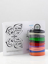"""Набор пластик для 3D ручки """"НИТ"""" в тубусе: ABS - 10 цветов + 4 трафарета (100 метров)"""