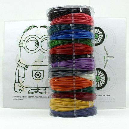 """Набор пластик для 3D ручки """"НИТ"""" в тубусе: ABS - 15 цветов + 4 трафарета (150 метров), фото 2"""
