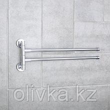 """Держатель для полотенец с двумя поворотными панелями """"Accoona A121-2"""", цвет хром"""